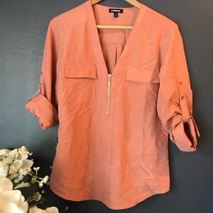 Express Roll-Sleeve Blouse